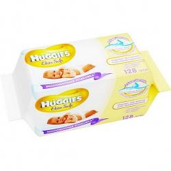 Huggies Влажные салфетки Elite Soft 128 шт