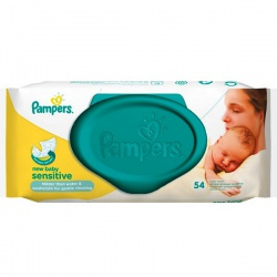 PAMPERS Детские влажные салфетки New Baby Sensitive 54 шт