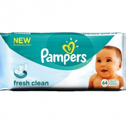 PAMPERS ������� ������� �������� Baby Fresh Clean ������� ���� 64