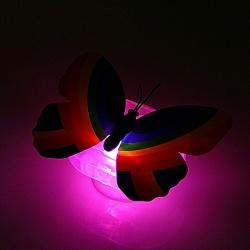 Ночник на липучке Яркая бабочка МИКС