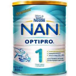 Молочная смесь НАН 1 Premium Optipro с рождения, 400 г.