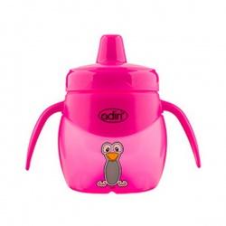 Детский поильник Adiri Penguin Jr. Trainer Pink, 200 мл.