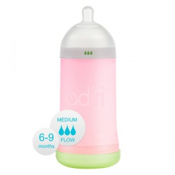 Бутылочка Adiri NxGen Medium Flow Pink (6-9 мес., 281 ml)