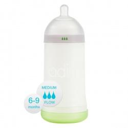 Бутылочка Adiri NxGen Medium Flow White (6-9 мес., 281 ml)