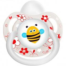 Пустышка силикон ортодонтическая Пчелка 0-6 мес