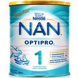 Молочная смесь НАН 1 Premium Optipro с рождения, 800 г.
