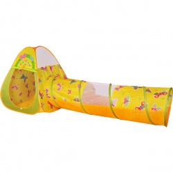 Игровой домик треугольный + туннель + 100 шариков CBH-22 цветной