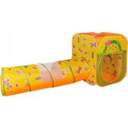 Игровой домик квадратный + туннель + 100 шариков CBH-23 цветной