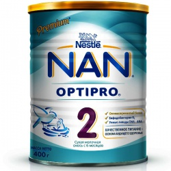Молочная смесь НАН 2 Premium Optipro с 6 месяцев, 400 г.
