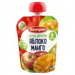 Сэмпер пюре Яблоко и манго с 6 мес. (пауч) 90 гр
