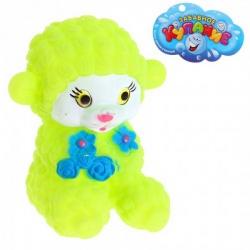 Резиновая игрушка Овечка с цветами, цвета МИКС