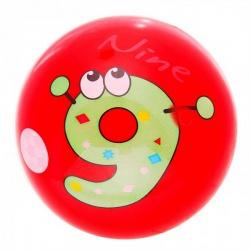 Мяч детский Цифры d=22см 60гр МИКС