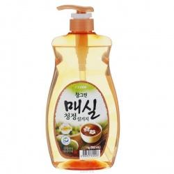 CJ Lion Средство для мытья посуды Chamgreen Японский абрикос, флакон-дозатор, 960 мл