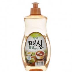 CJ Lion Средство для мытья посуды Chamgreen Японский абрикос, флакон, 500 мл