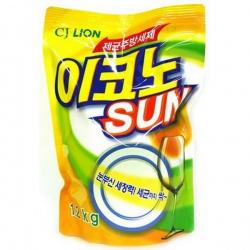 CJ Lion Средство для мытья посуды EconoSUN, мягкая упаковка, 1200 мл