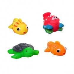 Игровой набор для купания, Bondibon, рыбки, рак, черепаха, 4 шт.