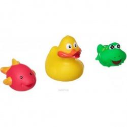 Игровой набор для купания, Bondibon, утенок, лягушка, дельфин, 3 шт.