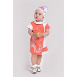 Платье Магнолия с шелкографией