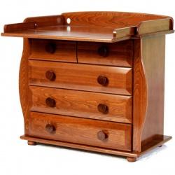LIEL БИ 36 Комод с пелен. столиком (орех светлый)