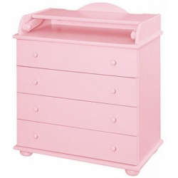 LIEL АБ 33 Комод со столиком для пеленания (розовый)