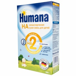 Молочная смесь Хумана Гипоаллергенная 2 с 6 месяцев, 300 г.