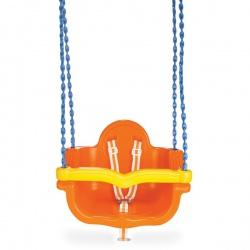 Качели подвесные Pilsan Джамбо на цепях в оплетке цвет оранжевый