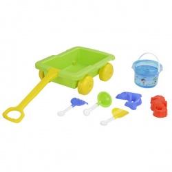Набор для игры в песочнице Pilsan 7 предметов в тележке 06-112