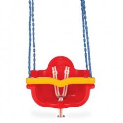 Качели подвесные Pilsan Джамбо на цепях в оплетке цвет красный
