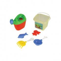 Набор для игры в песочнице Pilsan 6 предметов с лейкой 06-115