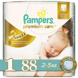 PAMPERS Подгузники Premium Care Newborn (2-5 кг) 88 шт