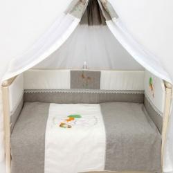 Bombus Комплект в кроватку Зайка , льняной, 7 пр. натуральный