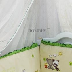Bombus Комплект в кроватку Панда с друзьями бежевый