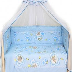 Bombus Комплект в кроватку Сладкий сон , 7 пр. голубой