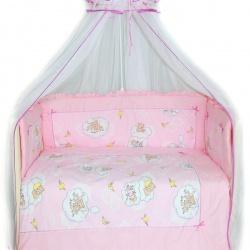 Bombus Комплект в кроватку Сладкий сон , 7 пр. розовый
