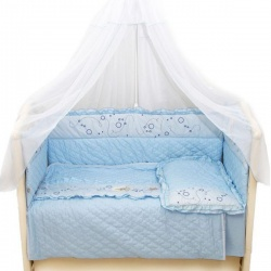 Bombus Комплект в кроватку Соня , 6 пр. голубой