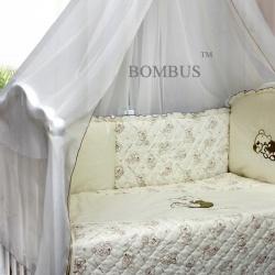 Bombus Комплект в кроватку Bombus , 6 пр. бежевый