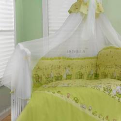 Bombus Комплект в кроватку Забавки , 7 пр. зеленый