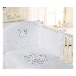 FERETTI Комплект в кроватку 6 пр. Sestetto high ETOILE BRILLIANTE bianco