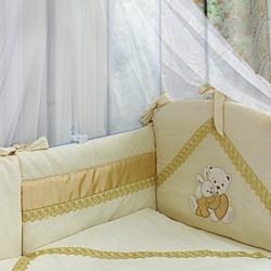 Labeillebaby Комплект в кроватку Венетто 7 пр бежевый