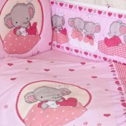 ЗОЛОТОЙ ГУСЬ Комплект в кроватку Слоник Боня розовый