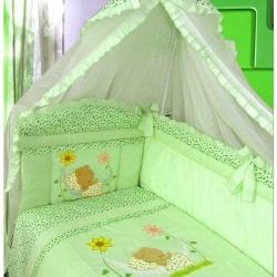 ЗОЛОТОЙ ГУСЬ Комплект в кроватку Сладкий сон зеленый