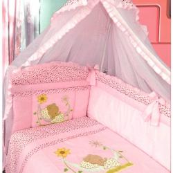 ЗОЛОТОЙ ГУСЬ Комплект в кроватку Сладкий сон розовый