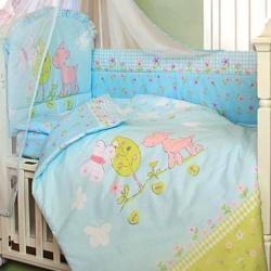 ЗОЛОТОЙ ГУСЬ Комплект в кроватку Little Friend голубой