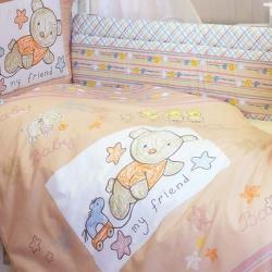 ЗОЛОТОЙ ГУСЬ Комплект в кроватку Zoo Bear бежевый