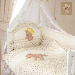 ЗОЛОТОЙ ГУСЬ Комплект в кроватку Мишка-Царь бежевый