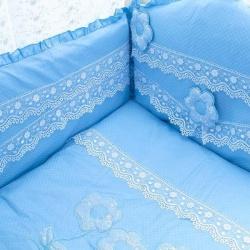 Мой Ангелок Комплект в кроватку 7 пр. Аленький цветочек голубой