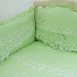 Мой Ангелок Комплект в кроватку 7 пр. Аленький цветочек фисташковый