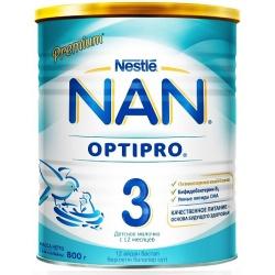 Молочная смесь НАН 3 Premium Optipro с 12 месяцев, 800 г.