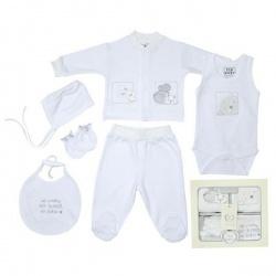 Набор одежды для детей от 0 до 6 мес 6 предметов (белый цвет)