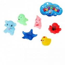 Набор игрушек для купания Зверята, 6 шт.